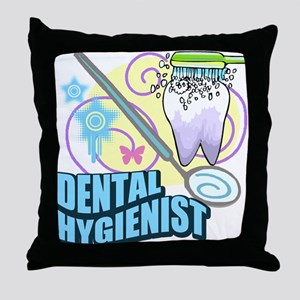 Dental Hygienists Throw Pillow