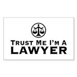 Trust Me I'm A Lawyer Sticker (Rectangle)