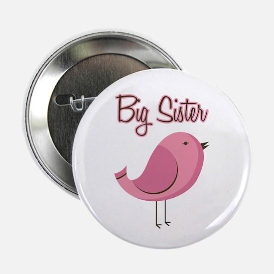 "Big Sister Pink Bird 2.25"" Button"