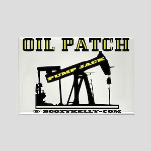 Oil Patch Pump Jack Rectangle Magnet,Oil