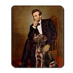 Lincoln / Chocolate Lab Mousepad