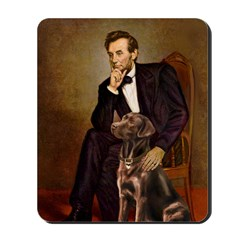 Lincoln / Chocolate Lab Mousepad