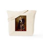 Lincoln / Chocolate Lab Tote Bag
