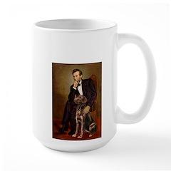 Lincoln / Chocolate Lab Large Mug