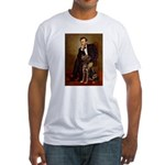 Lincoln / Chocolate Lab Fitted T-Shirt