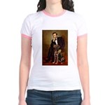 Lincoln / Chocolate Lab Jr. Ringer T-Shirt