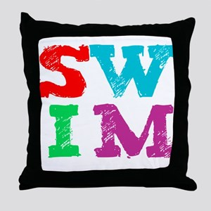 SWIM Throw Pillow