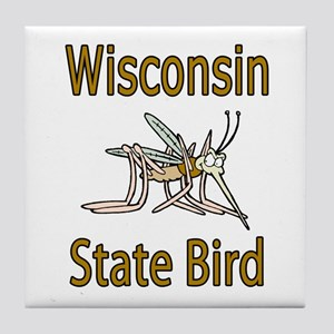 Wisconsin State Bird Tile Coaster