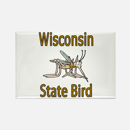 Wisconsin State Bird Rectangle Magnet