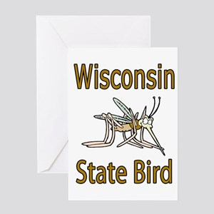 Wisconsin State Bird Greeting Card