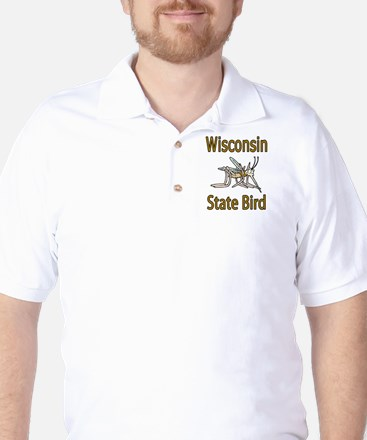 Wisconsin State Bird Golf Shirt