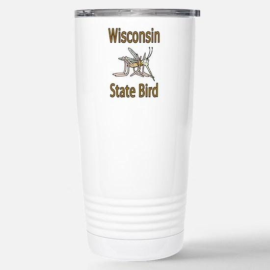 Wisconsin State Bird Stainless Steel Travel Mug