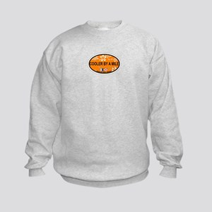 Avalon NJ - Oval Design Kids Sweatshirt
