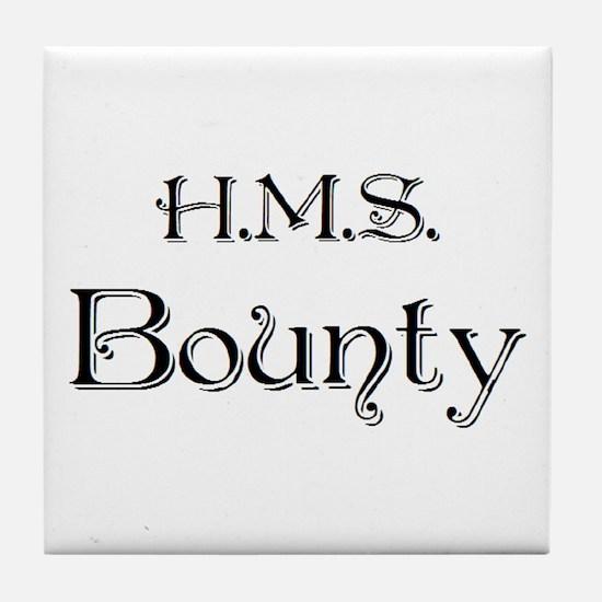 hms bounty Tile Coaster