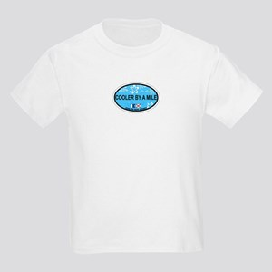 Avalon NJ - Oval Design Kids Light T-Shirt