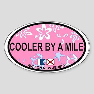 Avalon NJ - Oval Design Sticker (Oval)