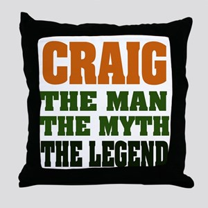 CRAIG - The Legend Throw Pillow