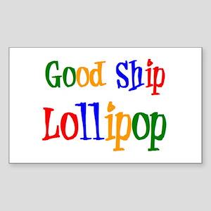 good ship lollipop Sticker (Rectangle)