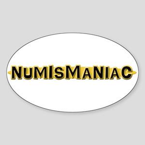 Numismaniac Oval Sticker