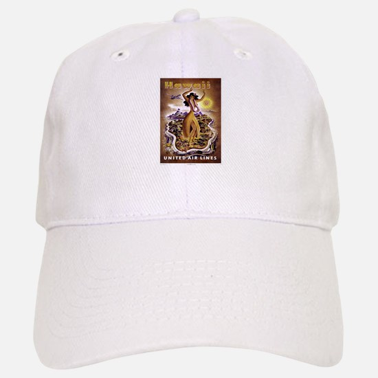 Retro United Hawaii Poster Baseball Baseball Cap