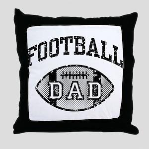 Football Dad Throw Pillow