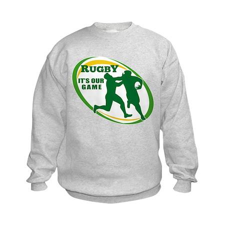 Rugby player fending Kids Sweatshirt