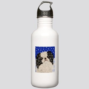 Snowflakes japanese chin Stainless Water Bottle 1.