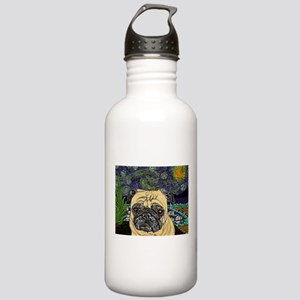 Starry night pug Stainless Water Bottle 1.0L