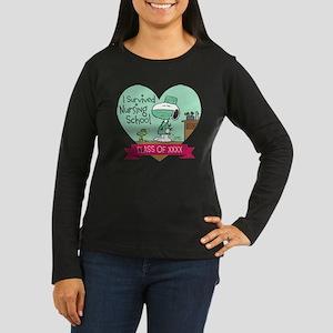 Snoopy Woodstock Women's Long Sleeve Dark T-Shirt