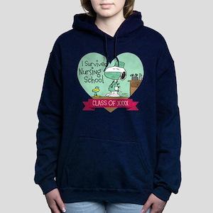 Snoopy Woodstock Nursing Women's Hooded Sweatshirt