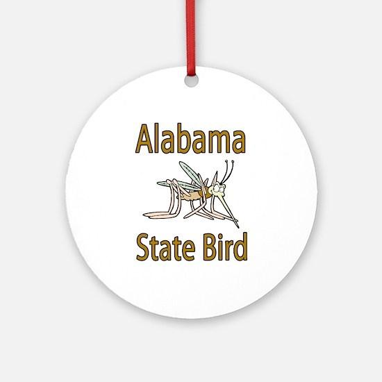 Alabama State Bird Ornament (Round)