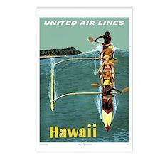 Vintage United Waikiki Poster Postcards (Package o
