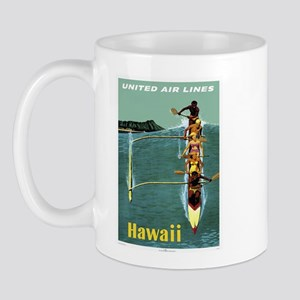 Vintage United Waikiki Poster Mug