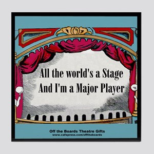 I'm a Major Player Tile Coaster