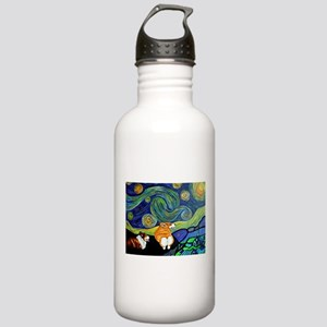 Corgi Starry Starry Night Stainless Water Bottle 1