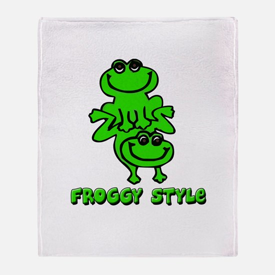 Froggy style Throw Blanket