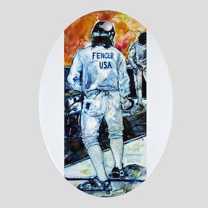 """Fencer USA"" Ornament (Oval)"