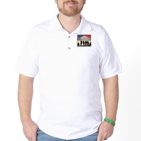 Support Our Troops Soldiers Golf Shirt