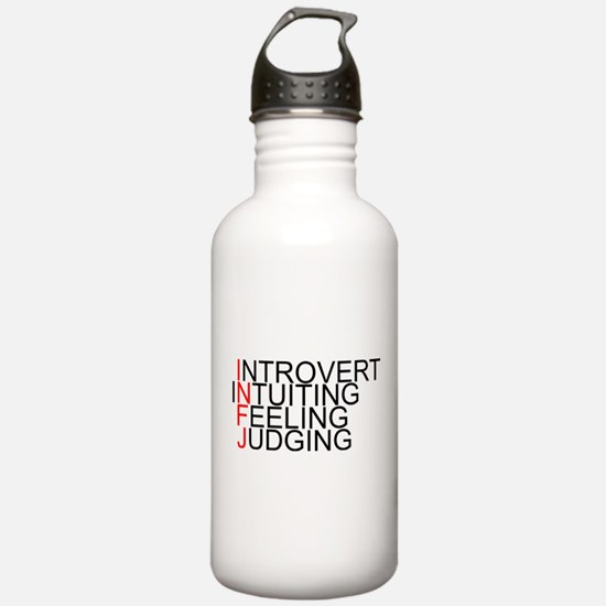 INFJ Spelled Out Water Bottle