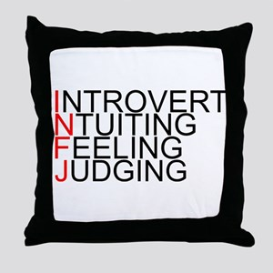 INFJ Spelled Out Throw Pillow