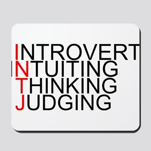 INTJ Spelled Out Mousepad