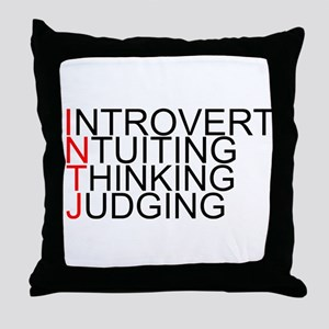 INTJ Spelled Out Throw Pillow