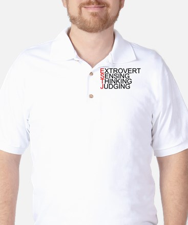 ESTJ Spelled Out Golf Shirt