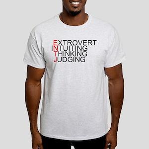ENTJ Spelled Out Light T-Shirt