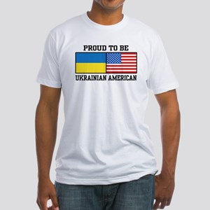 Ukrainian American Fitted T-Shirt