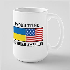 Ukrainian American Large Mug