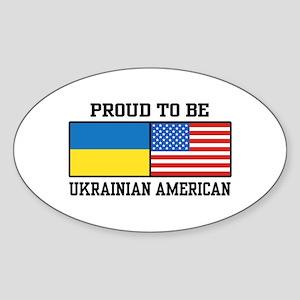 Ukrainian American Sticker (Oval)