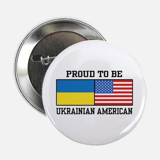 "Ukrainian American 2.25"" Button"