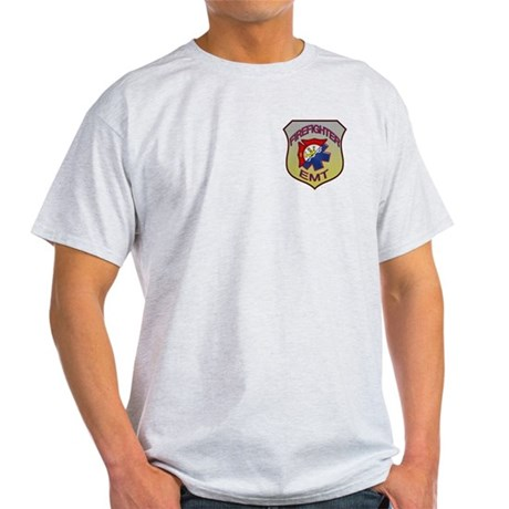 Firefighter EMT Badge Light T-Shirt