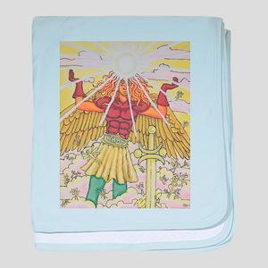Archangel Raphael baby blanket